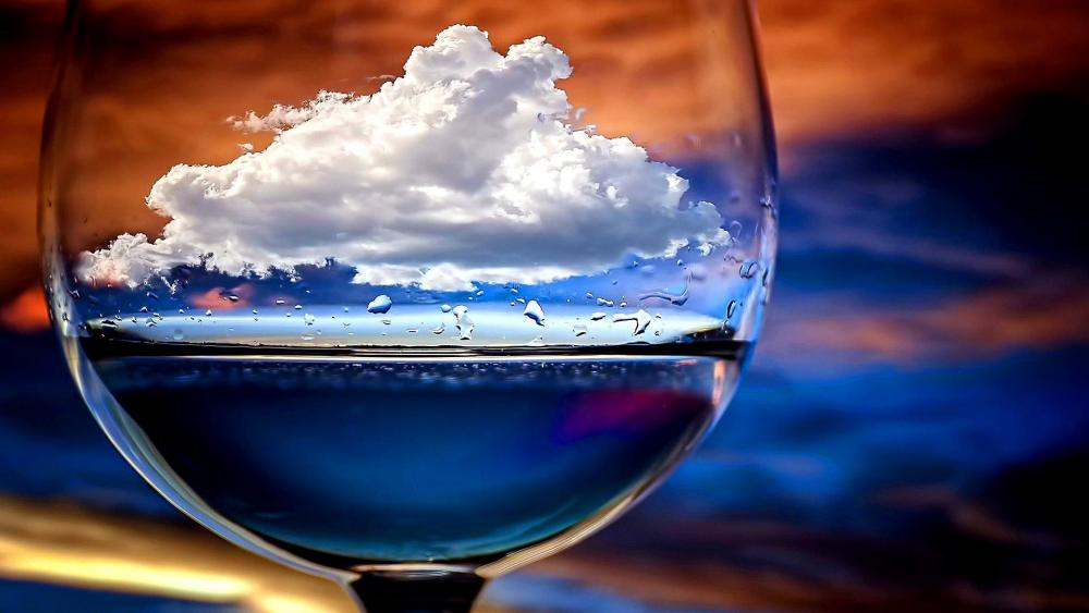 Cloud in the glass - Artwork wallpaper