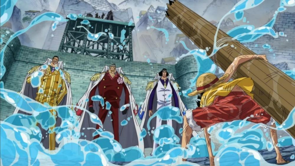 Luffy vs 3 admirals wallpaper
