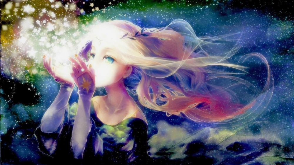 Prayer anime girl wallpaper