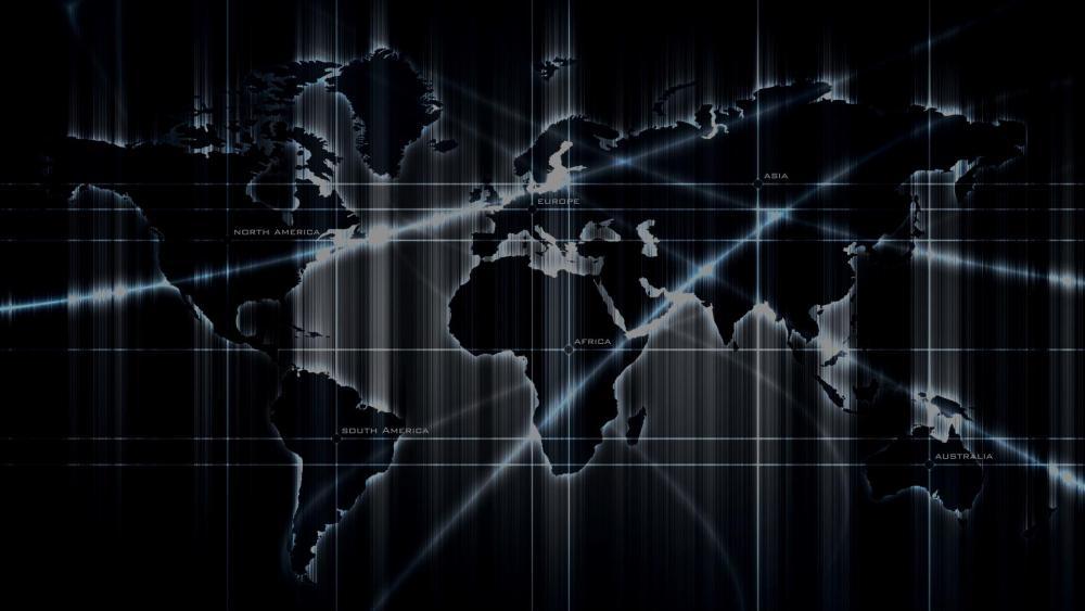 ️ World map - Digital art wallpaper