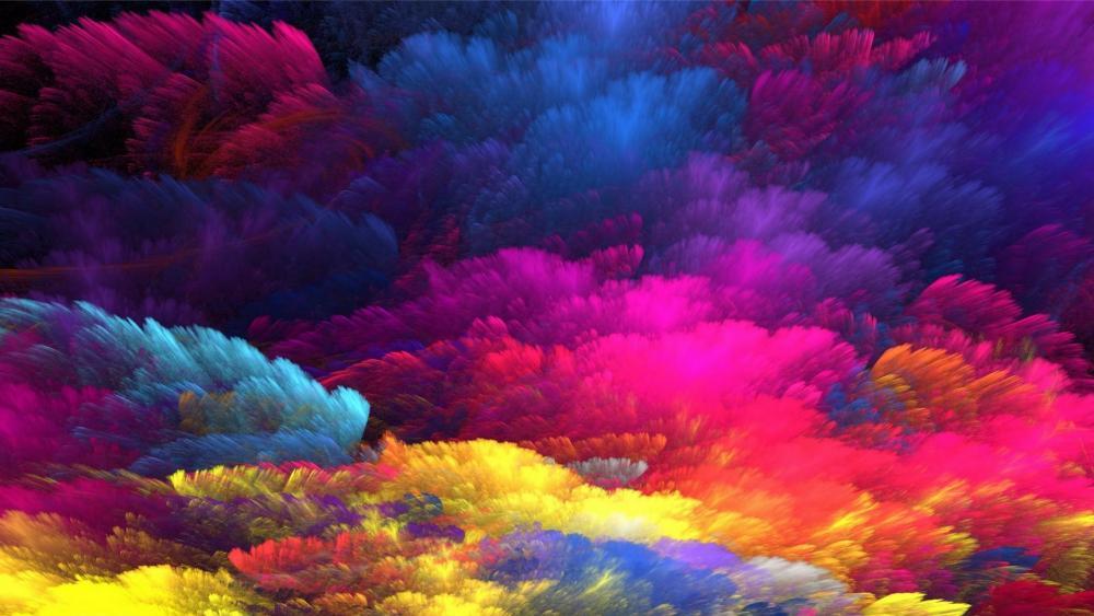 Rainbow colors abstract art wallpaper