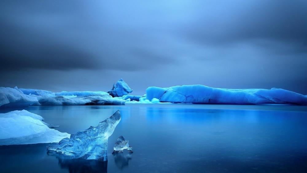 Icy sea wallpaper
