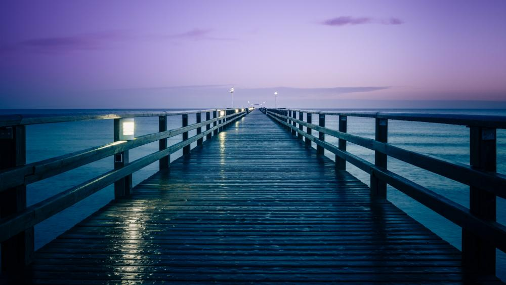 Seebruecke Bridge - Zinnowitz, Usedom Island,  Mecklenburg-Western Pomerania, Germany wallpaper