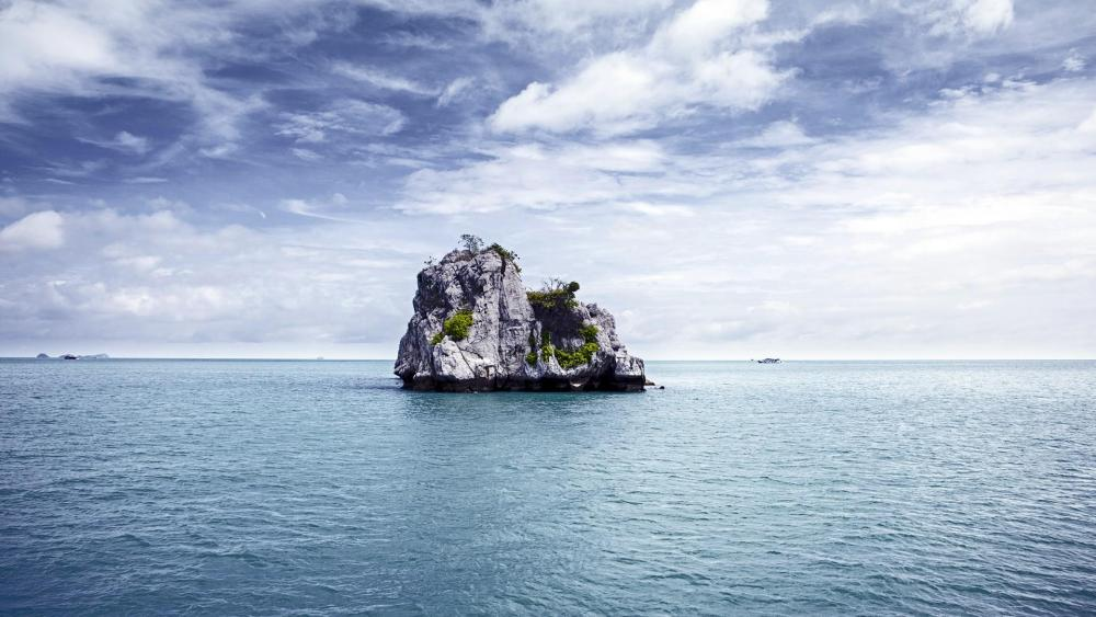 Rocky islet in Thailand, Asia wallpaper