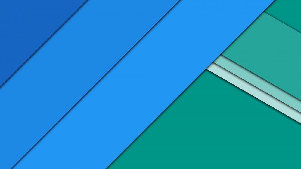 Blue and green material design artwork wallpaper