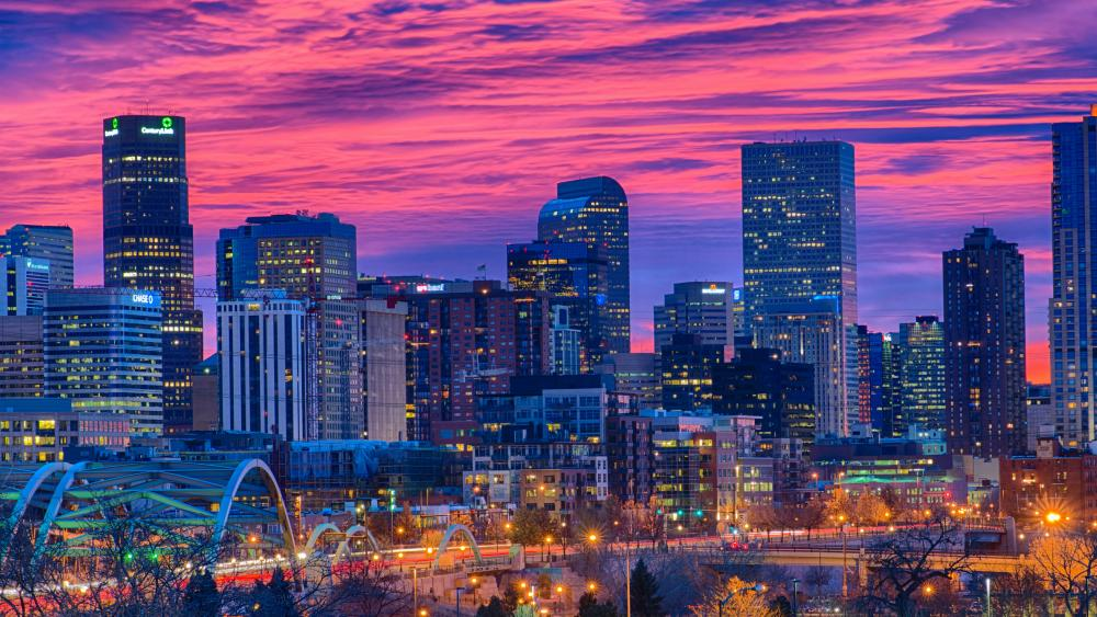 Denver at dusk wallpaper