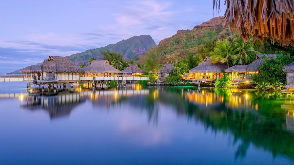Morning at Bora Bora wallpaper
