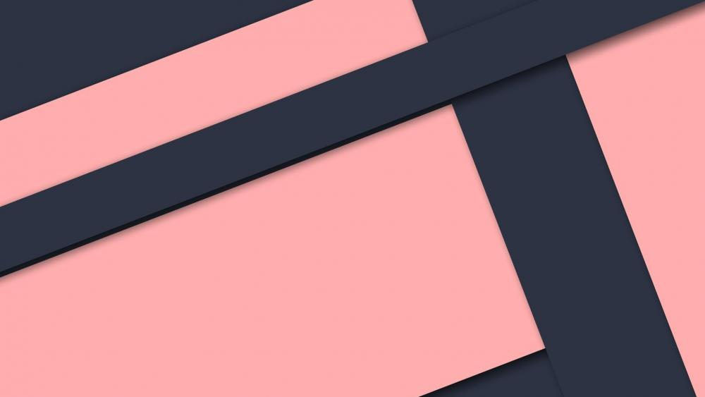 Pink material design wallpaper