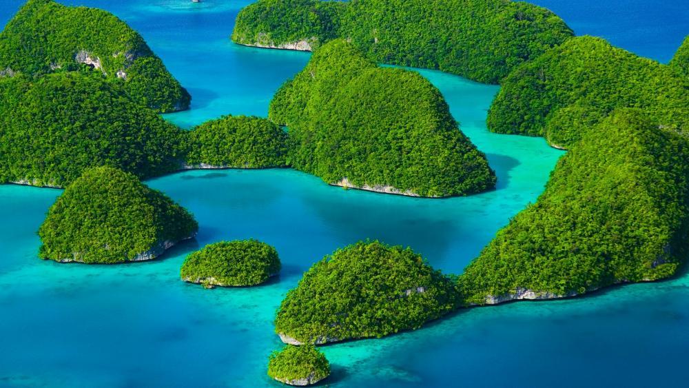 The Rock Islands of Palau wallpaper
