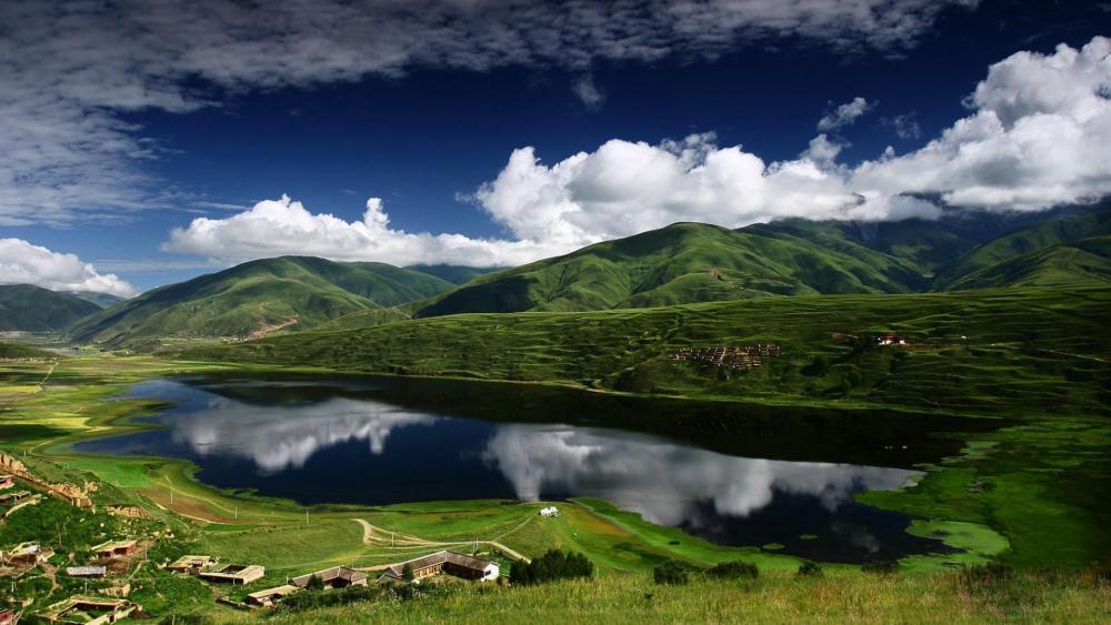 Kasa Lake - Garze, Sichuan, China wallpaper