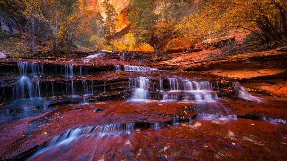 Zion Waterfalls - Zion National Park, Utah wallpaper