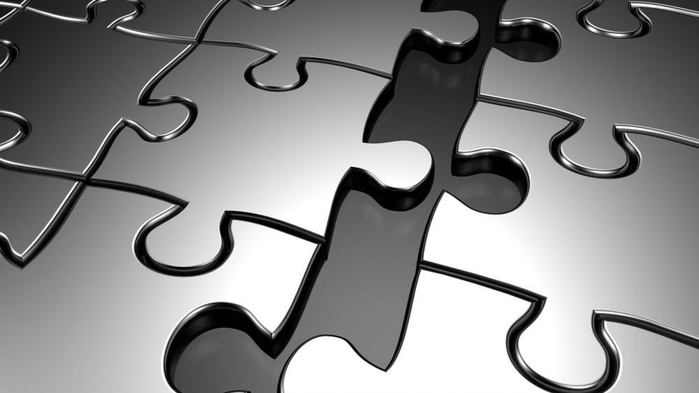 Metallic fantasy jigsaw puzzle wallpaper