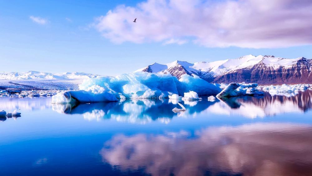Jökulsárlón Iceberg Lagoon - Vatnajökull National Park, Iceland wallpaper