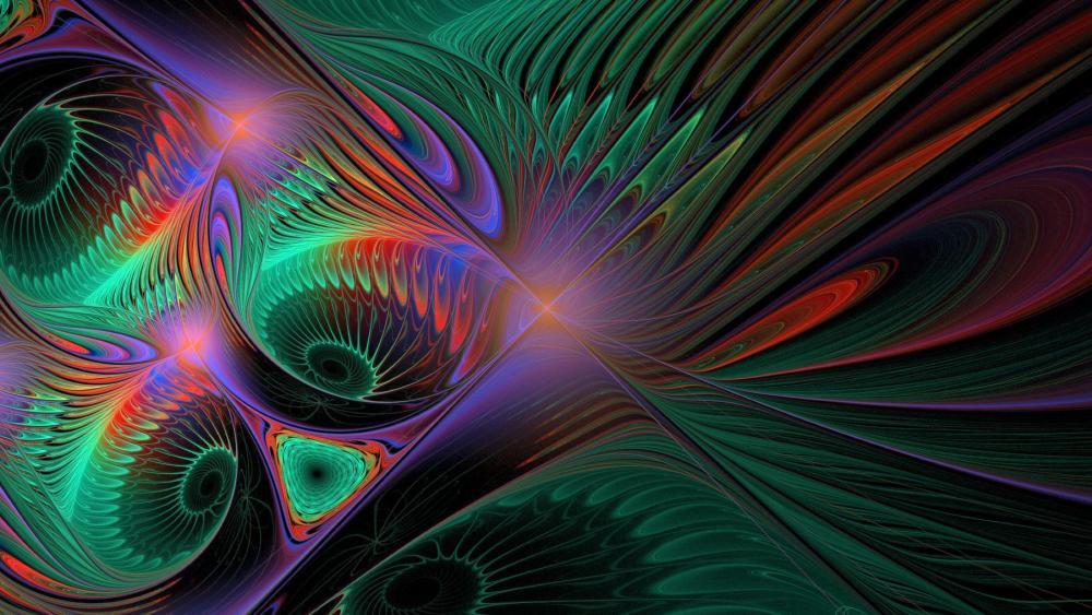 Colorful 3D digital art wallpaper
