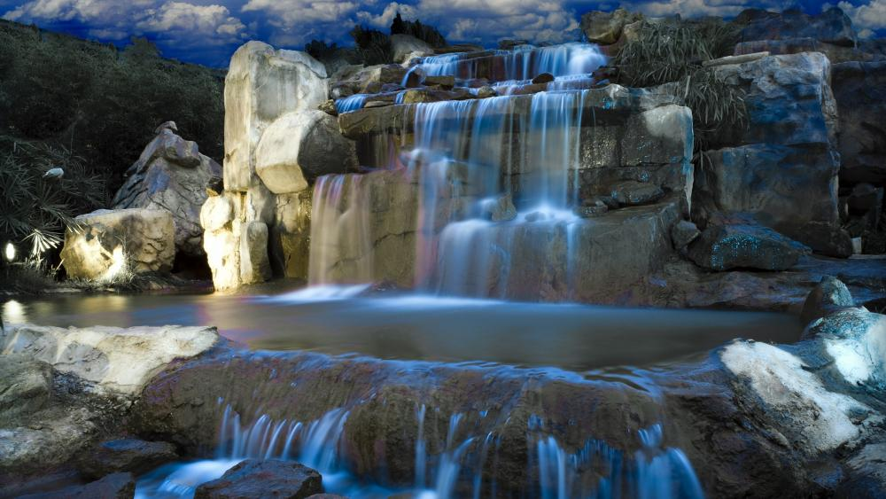 Fantasy waterfall wallpaper
