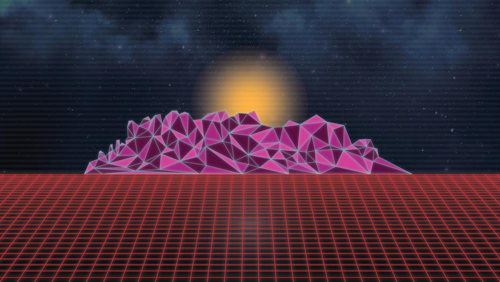 Retrowave neon artwork wallpaper