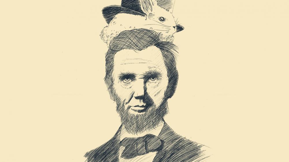 Abraham Lincoln drawing wallpaper
