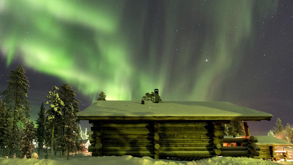 Northern Lights in Saariselkä, Finland wallpaper