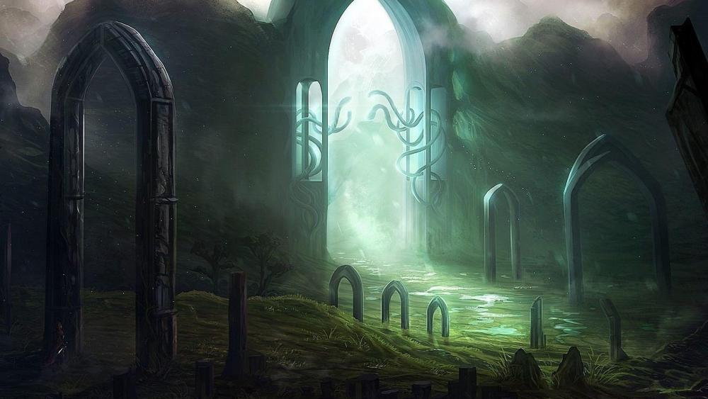Light through the gate - Fantasy art wallpaper