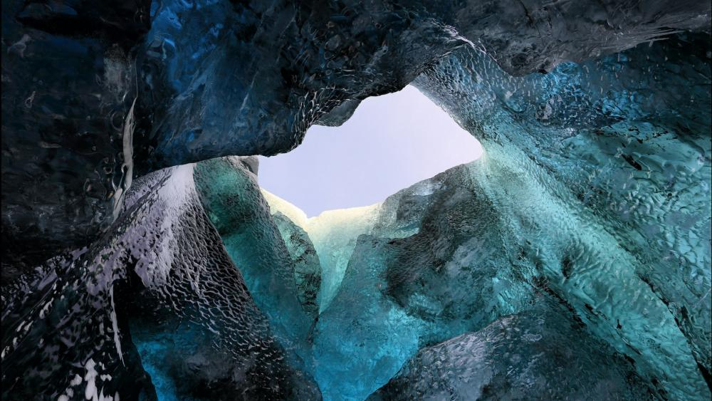 Ice cave in Iceland wallpaper