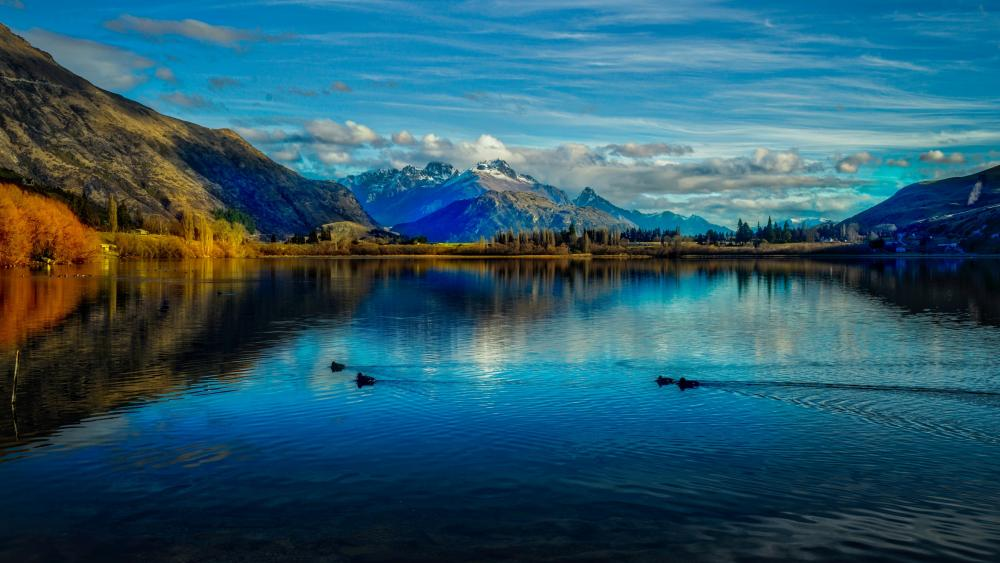 Lake Hayes - New Zealand wallpaper