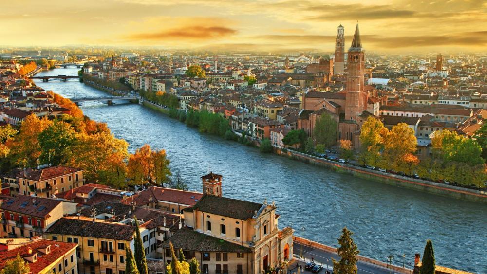 Verona, the city of love - Italy wallpaper