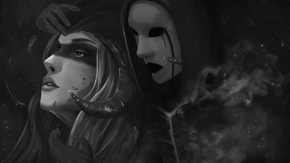 Dark phantom from the past - Fantasy art wallpaper
