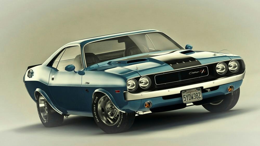1970 Dodge Challenger R/T Hot American Car wallpaper
