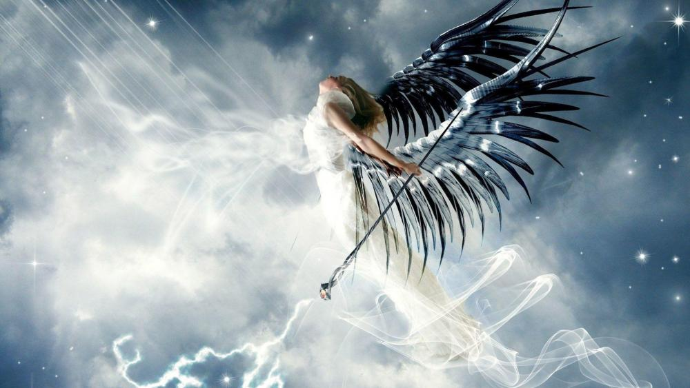 White angel - Fantasy art wallpaper