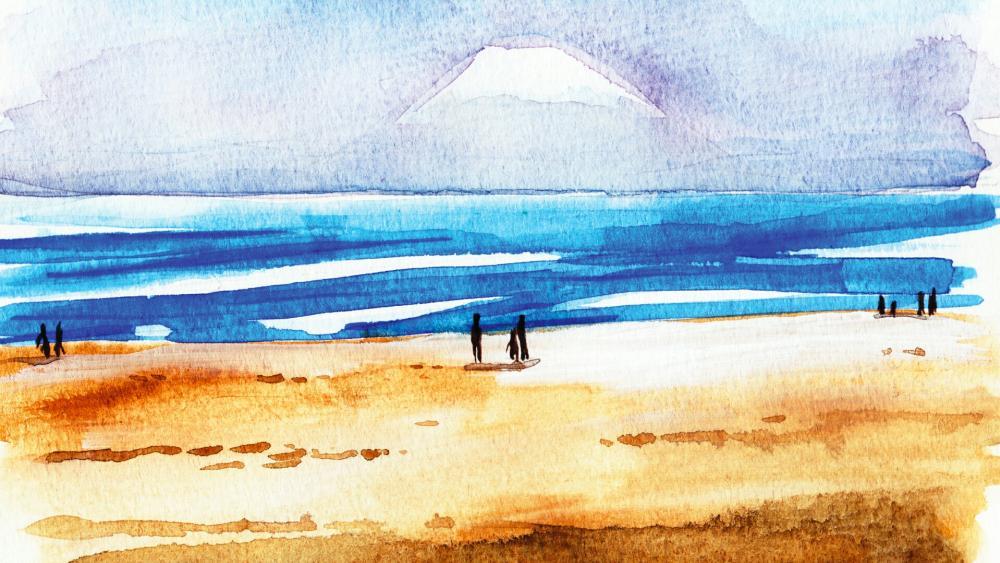 Watercolor painting wallpaper