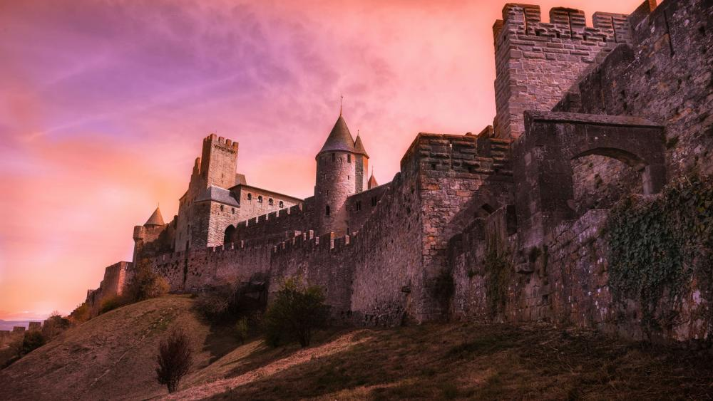 Fortified City of Carcassonne  wallpaper