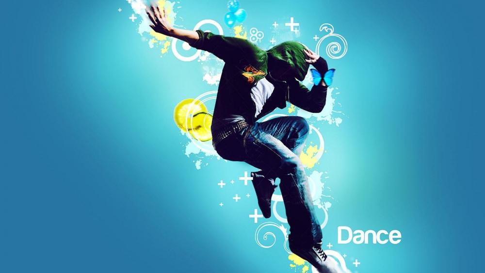 Solo dance performance graphics wallpaper
