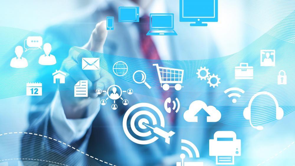 E-commerce technology wallpaper