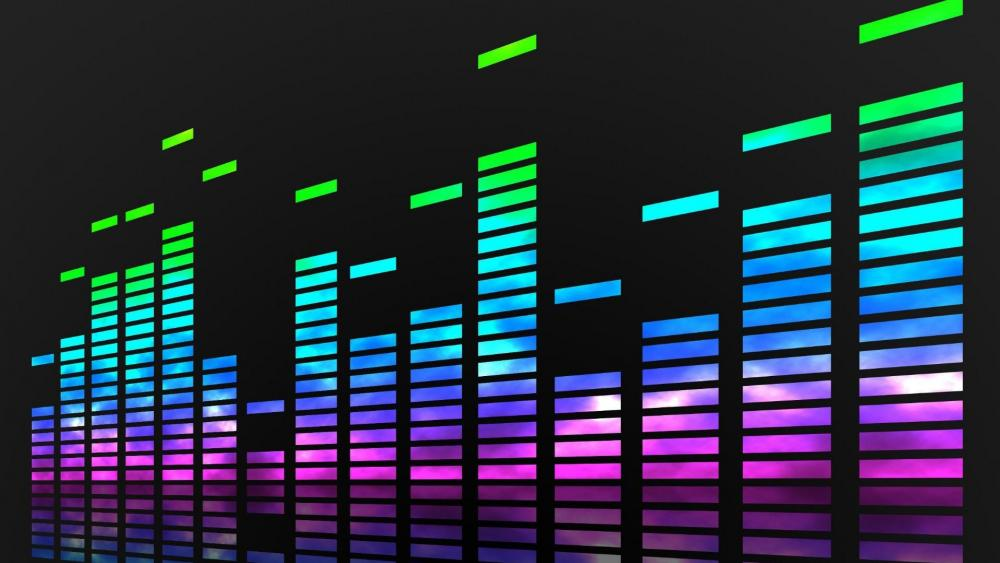 Neon music equalizer  wallpaper