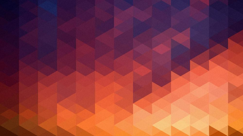 Gradient color triangles wallpaper