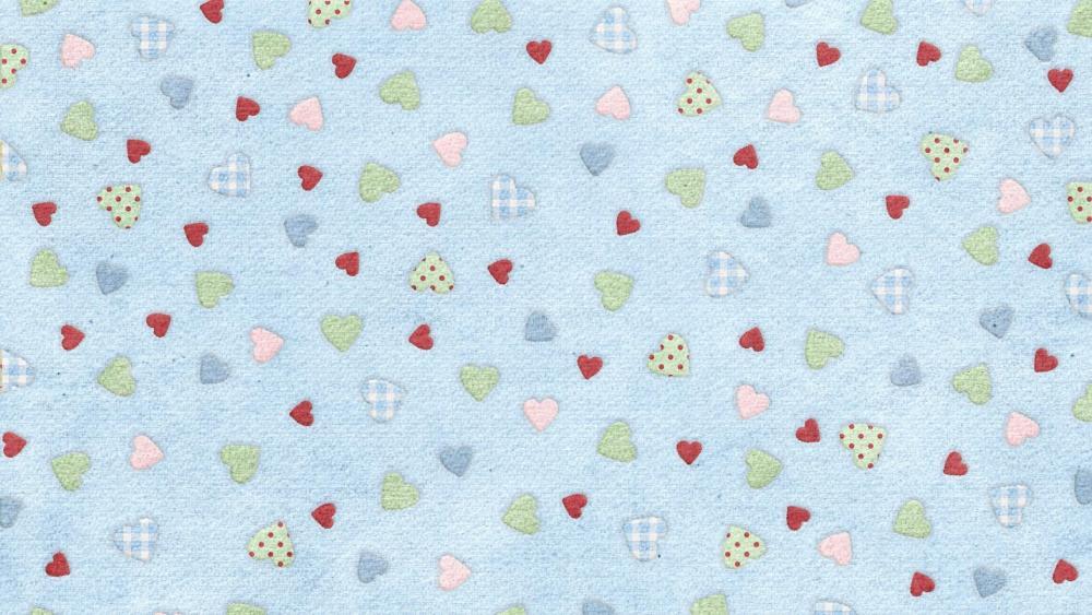 Little sweet hearts  wallpaper