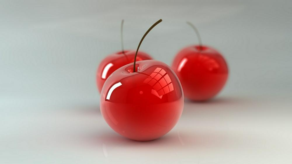 Cherries digital art wallpaper