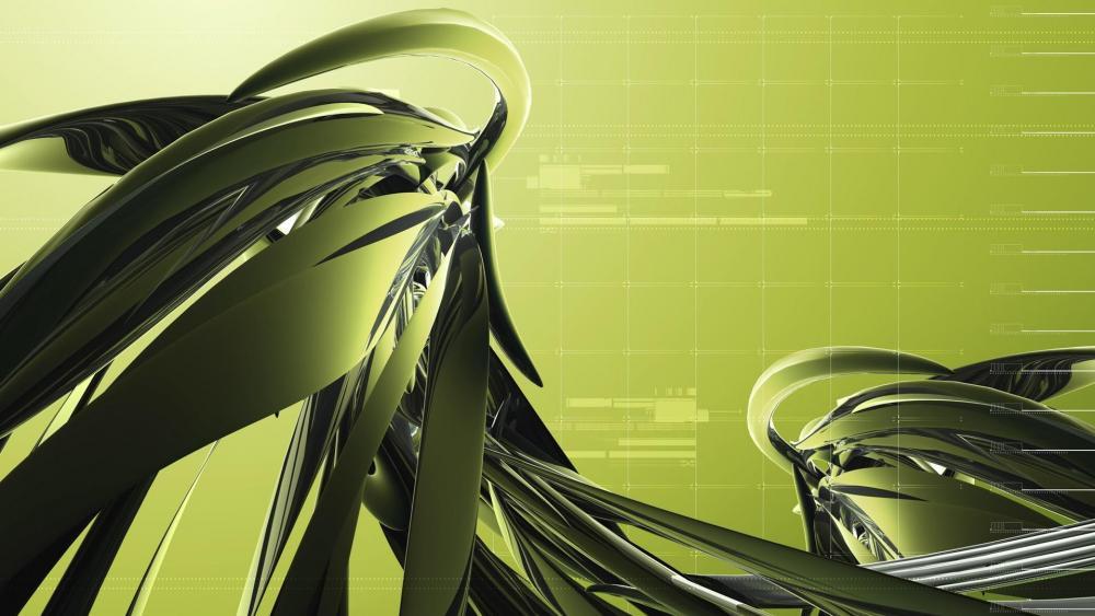 Green digital art wallpaper