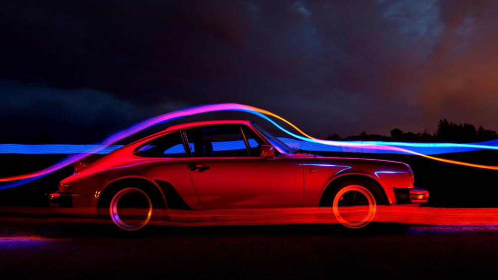 Awesome Luminous Porsche 911 wallpaper