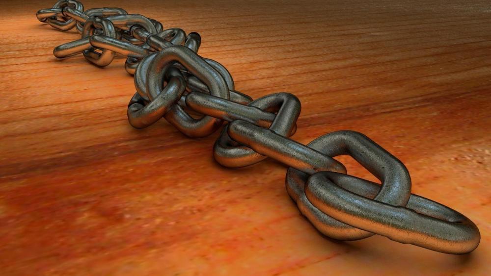 Metal chain wallpaper
