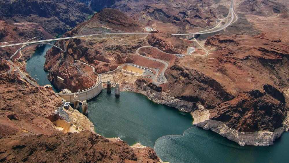 Hoover Dam - Aerial photography wallpaper