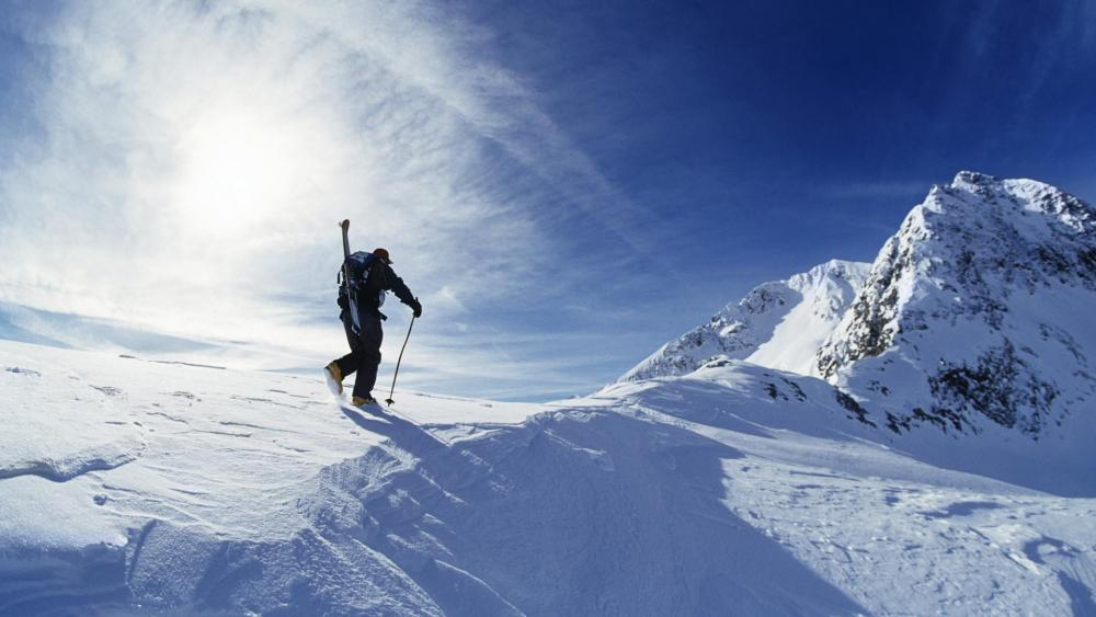 Ski mountaineering - Extreme sport wallpaper