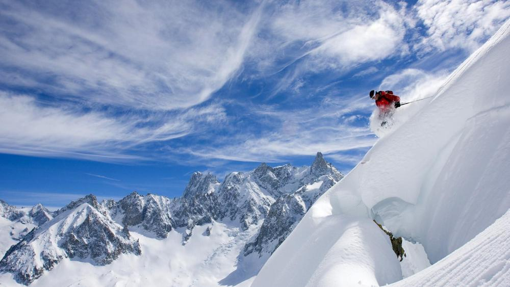 Skiing in Rhône-Alps, Chamonix wallpaper