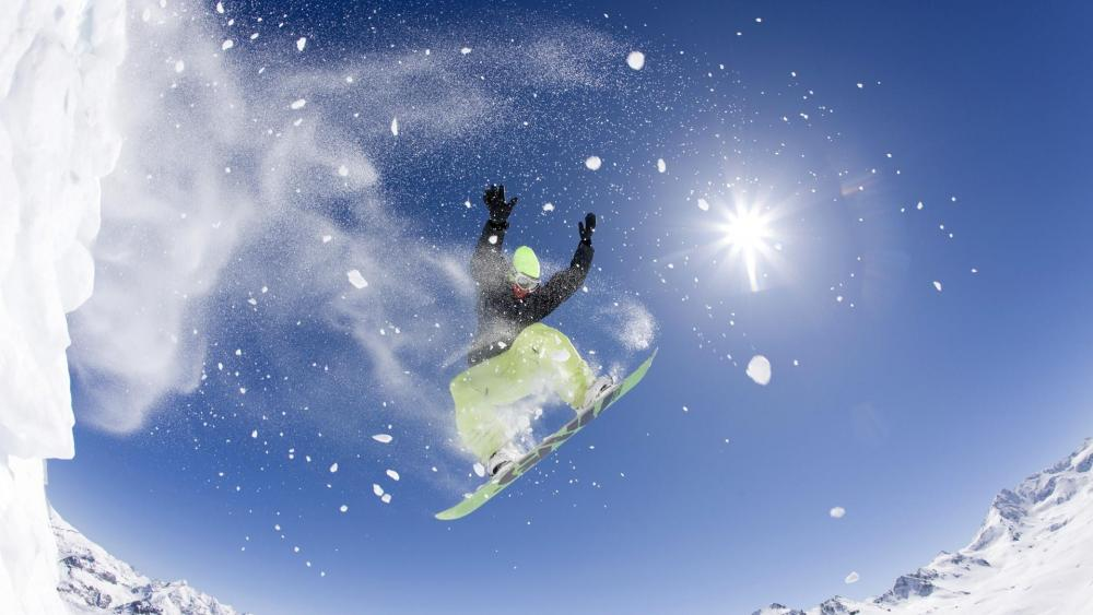 Freestyle snowboarding wallpaper