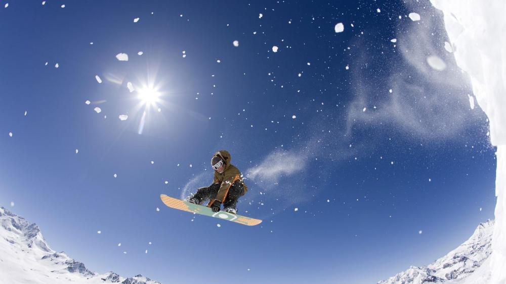 Freestyle snowboarding - Extreme sport wallpaper