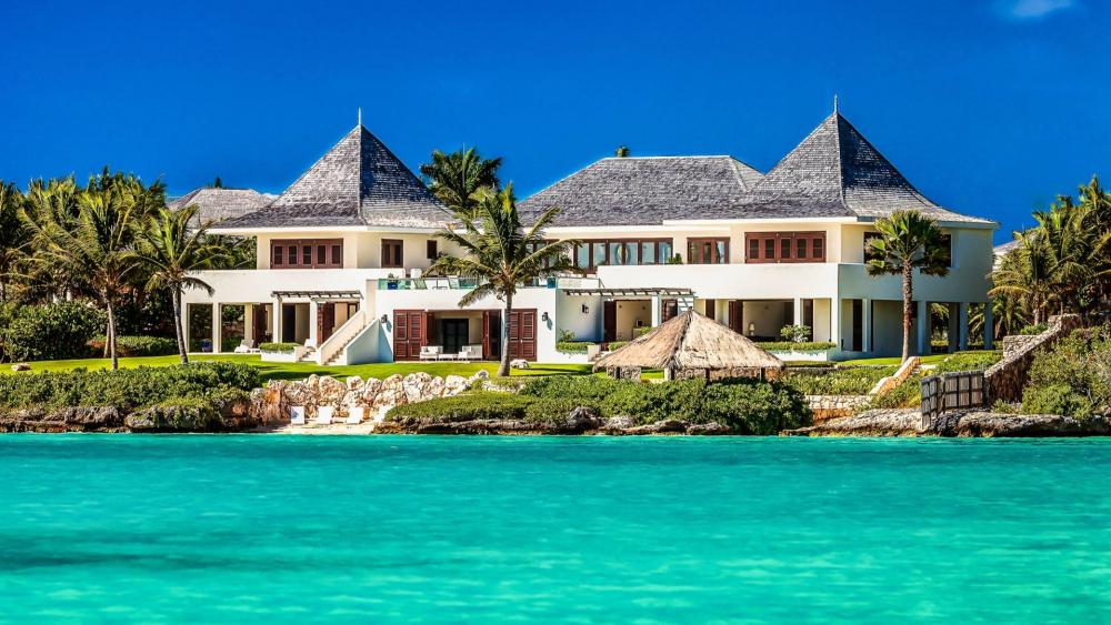 Beautiful villa at Shoal Bay Beach, Anguilla wallpaper