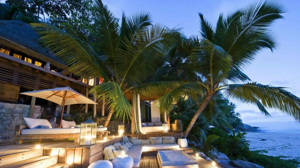 Vacation in Seychelle islands wallpaper
