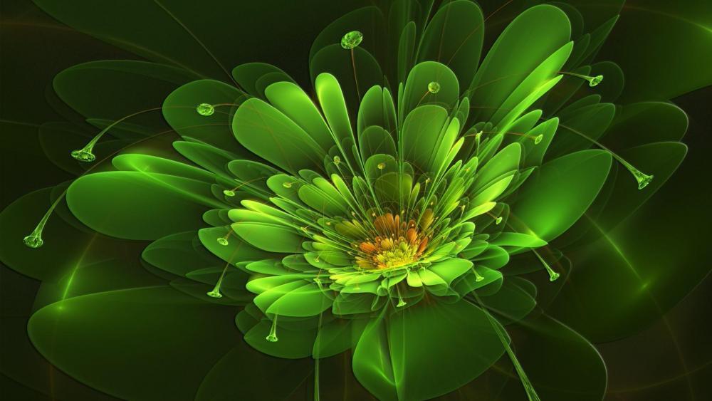 Glowing flower - Digital art wallpaper