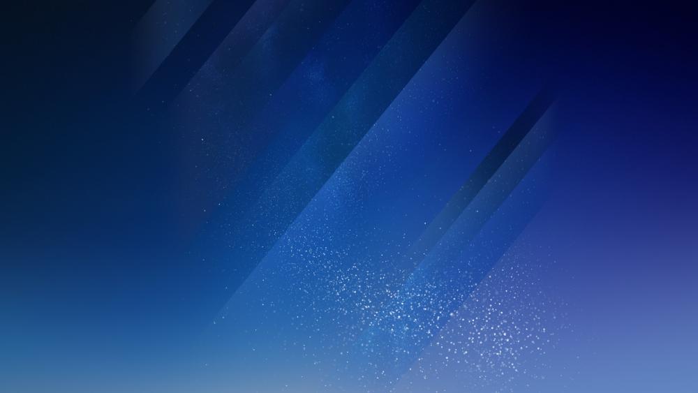 Blue sparkling background wallpaper