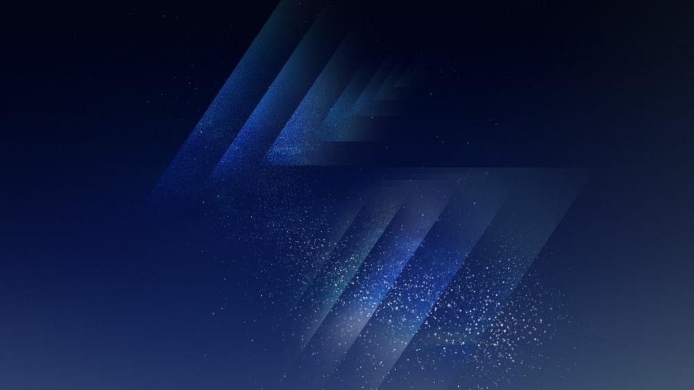 Sparkling dark blue background wallpaper